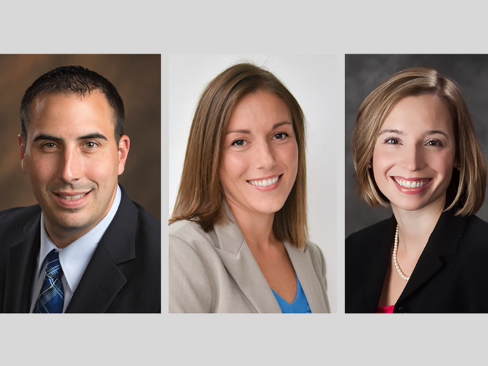 Josh Fox, Erin Threet and Adrienne Vicari were named shareholders