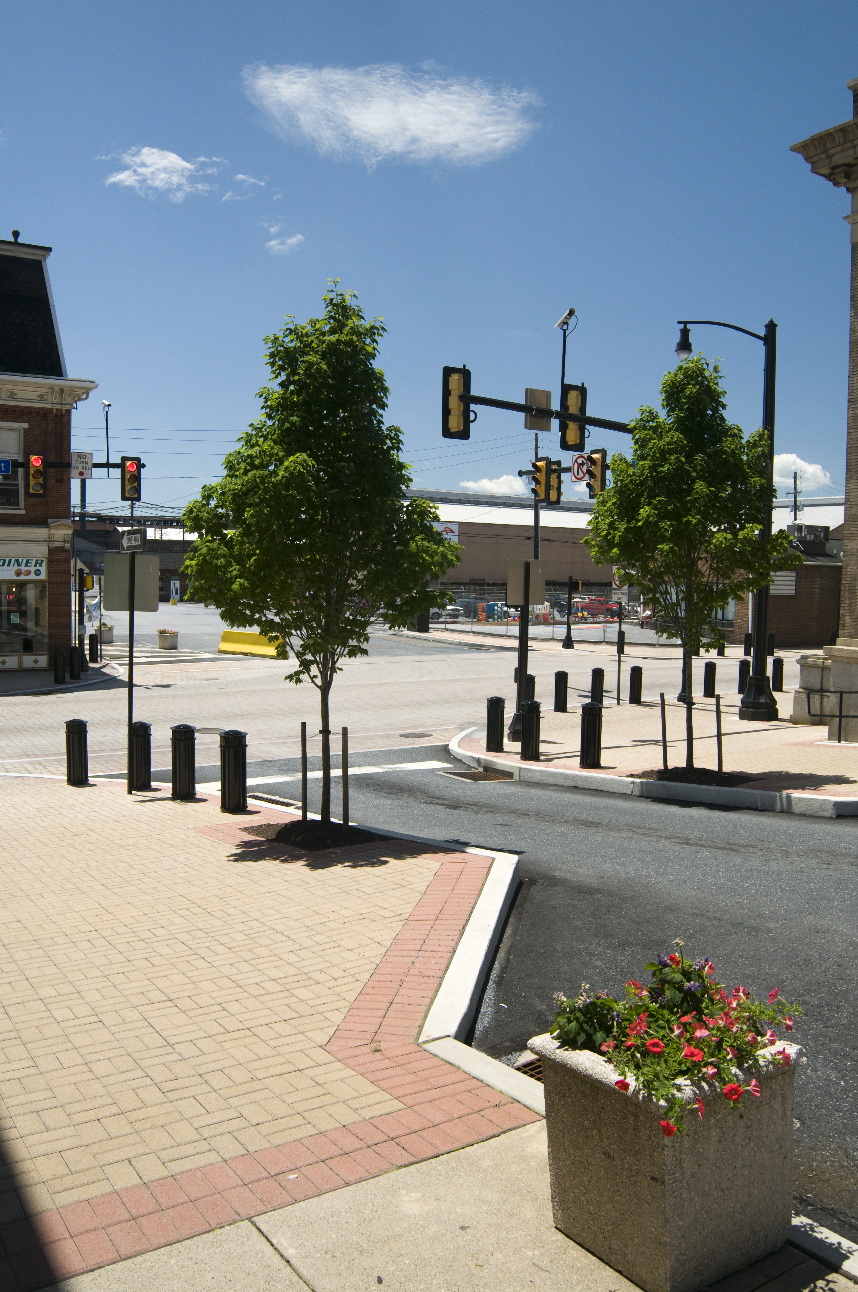 Streetscape To The North Of Hickory Click To Close: Reduce Speeding With Speed Humps And Other Traffic Control