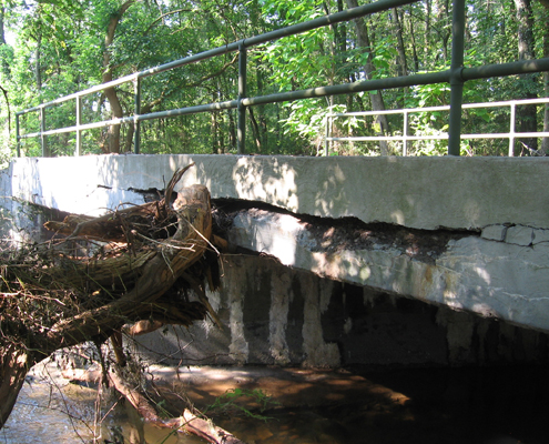 Londonderry Township bridge damaged by Tropical Storm Lee