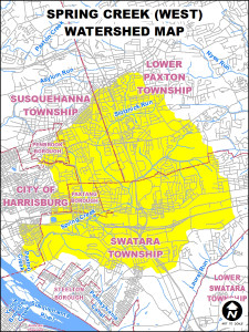 Watershed crossing municipal boundaries