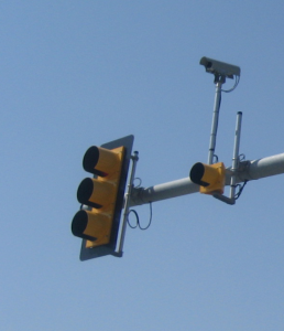 advanced traffic signal with mounted camera