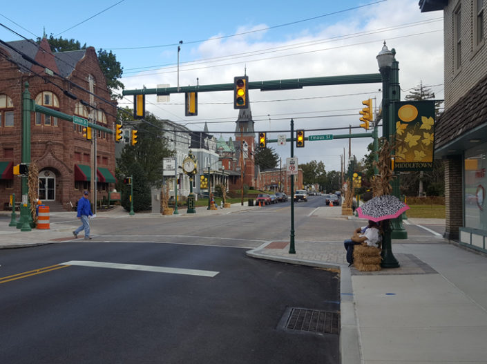 Middletown Streetscape funded by the Dauphin County Infrastructure Bank